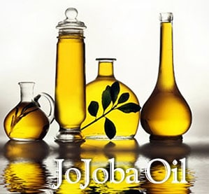 photo of jojoba oil in flasks