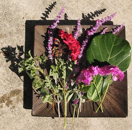 Flower & Leaf Offerings for Bri's Cremation Ceremony