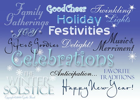 graphic of winter holiday greetings