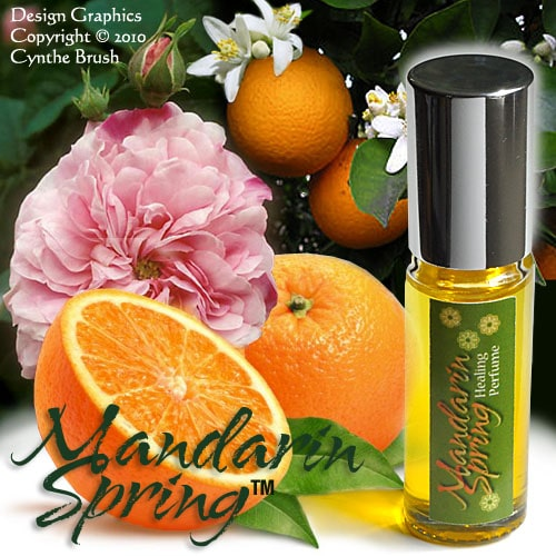 Mandarin Spring™ a lovely perfume oil with Rose & Citrus key notes plus real health benefits from the pure therapeutic essential oils used in the blend.