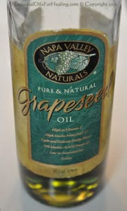 photo of grapeseed oil bottle
