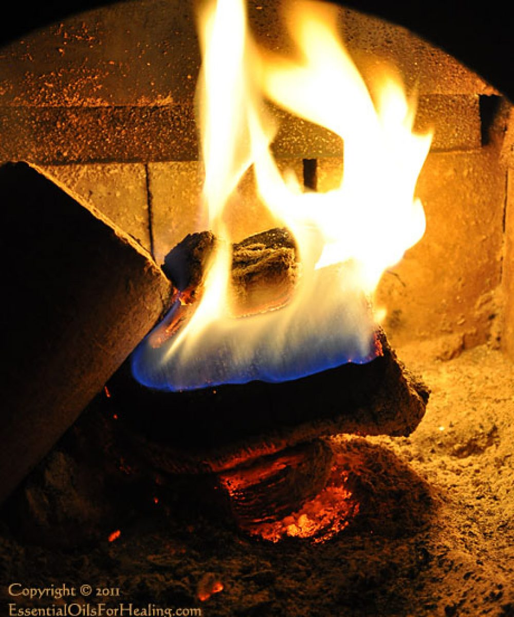 photo of a woodstove fire