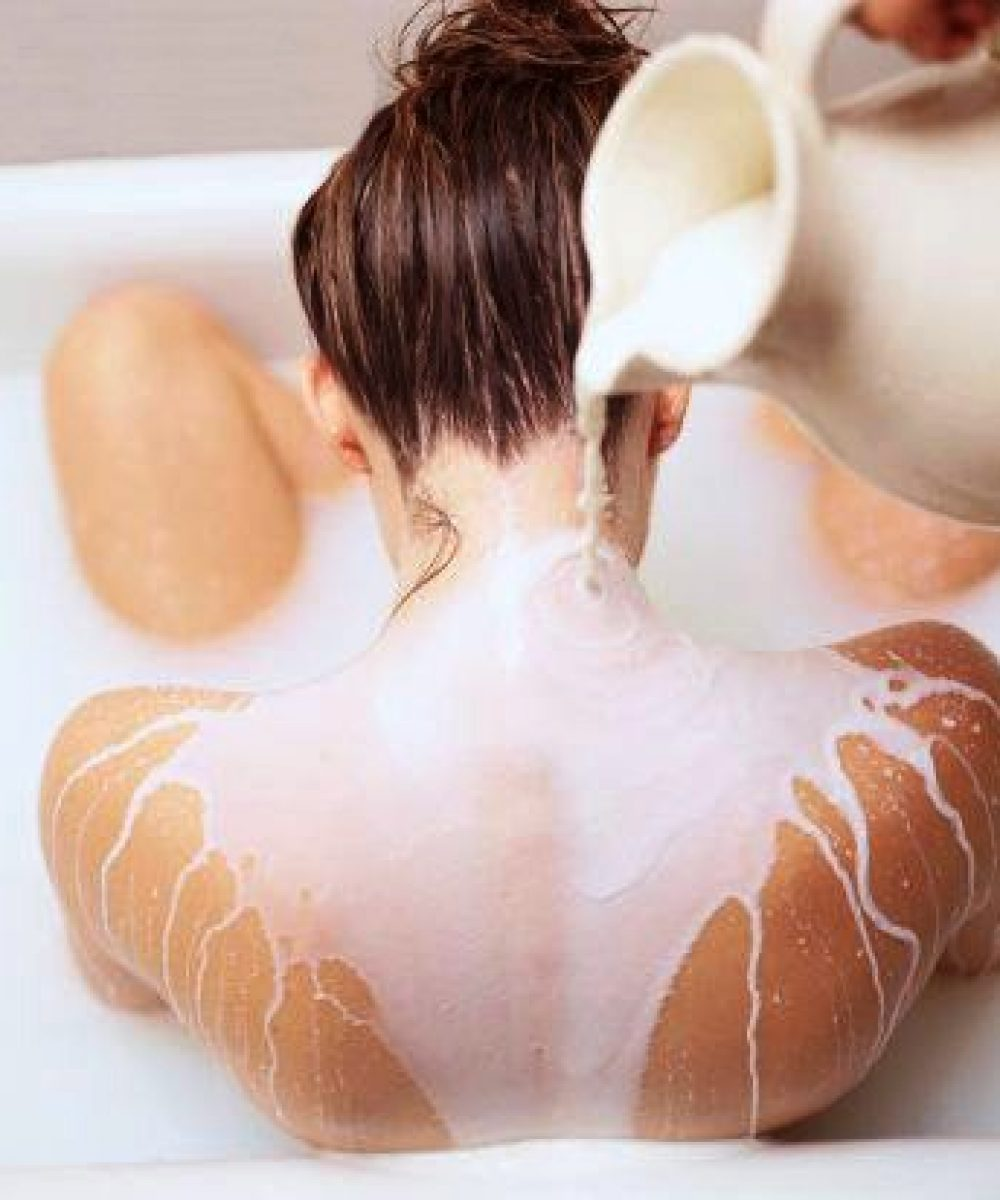 Whole fat milks added to the bath are a luxurious ingredient for gorgeous skin.